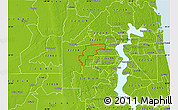 Physical Map of ZIP code 32221