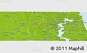 Physical Panoramic Map of ZIP code 32221