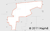 Silver Style Simple Map of ZIP code 32221
