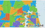 32254 Zip Code Map.Physical 3d Map Of Zip Code 32254