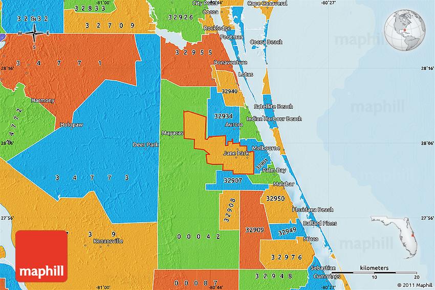 Political Map Of Zip Code 32904