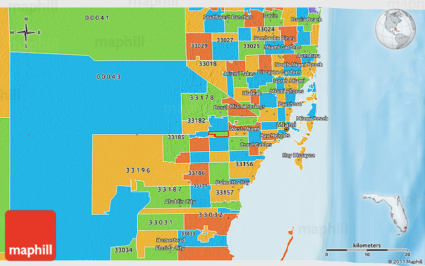 Zip Code Map Miami
