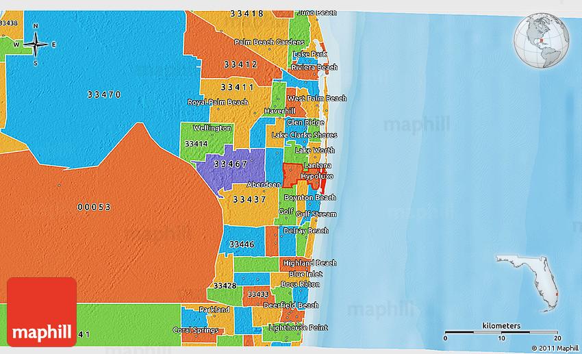 Lake Worth Zip Code Map.Political 3d Map Of Zip Code 33462
