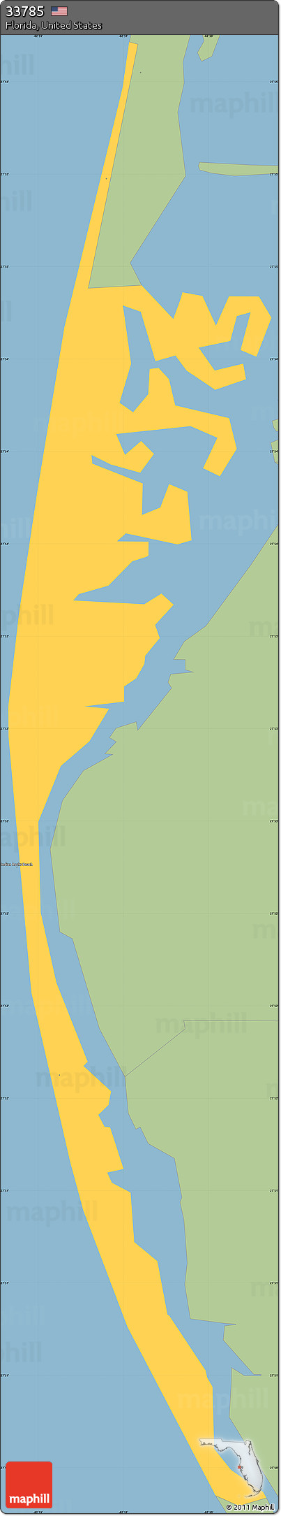 Free Savanna Style Simple Map Of ZIP Code - Free map of united states zip codes