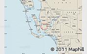 Shaded Relief Map of ZIP code 33914