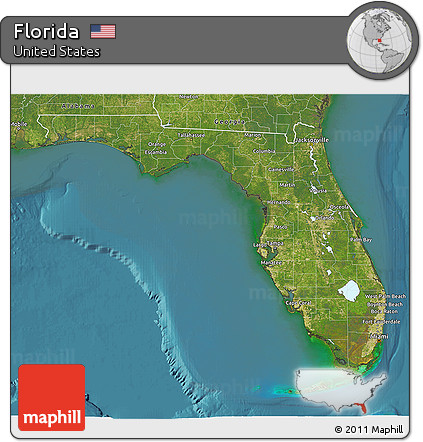 Free Satellite D Map Of Florida - Satellite maps florida
