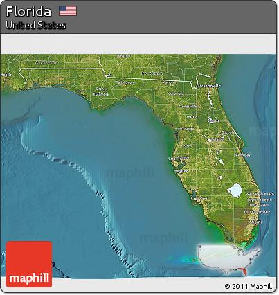 Satellite Map Of Florida.Free Satellite 3d Map Of Florida