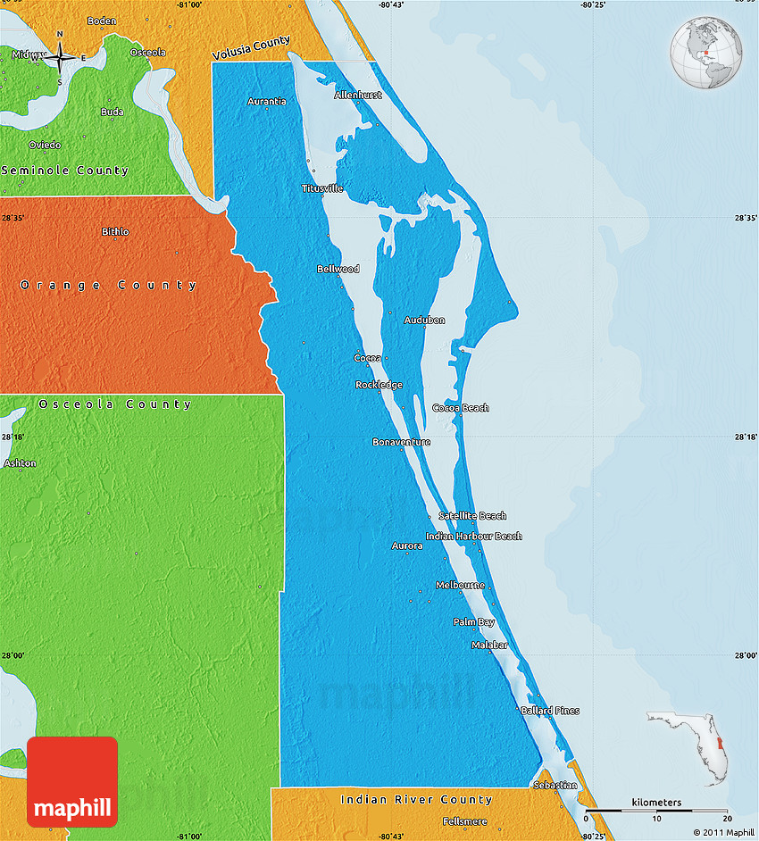Political Map of Brevard County