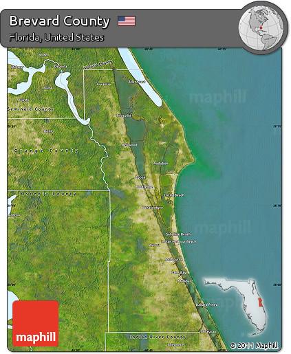 Map Of Brevard County Florida.Free Satellite Map Of Brevard County