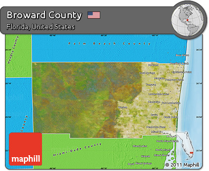 Map Of Broward County Florida.Free Satellite Map Of Broward County Political Outside