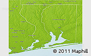 Physical 3D Map of Escambia County