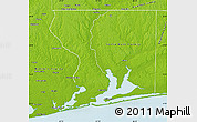 Physical Map of Escambia County