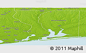 Physical Panoramic Map of Escambia County