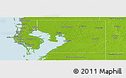Physical Panoramic Map of Hillsborough County