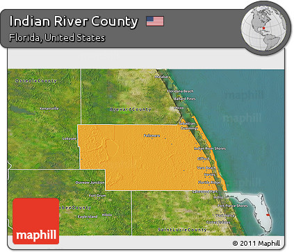 Political Map Of Florida.Free Political 3d Map Of Indian River County Satellite Outside