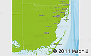Physical 3D Map of Miami-Dade County