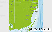 Physical Map of Miami-Dade County