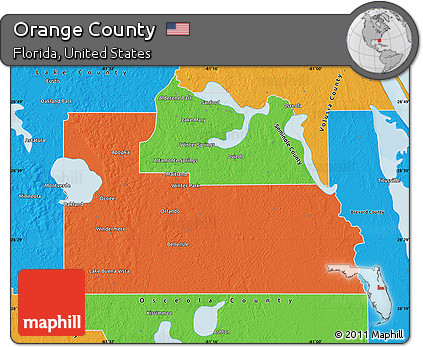 Orange County Political Map.Free Political Map Of Orange County
