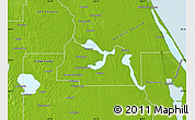 Physical Map of Seminole County