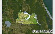 Satellite Map of Seminole County, darken