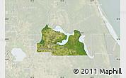 Satellite Map of Seminole County, lighten