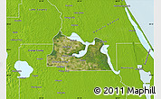 Satellite Map of Seminole County, physical outside