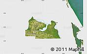 Satellite Map of Seminole County, single color outside