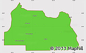 Political Simple Map of Seminole County, cropped outside