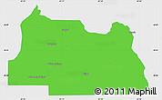 Political Simple Map of Seminole County, single color outside