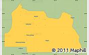 Savanna Style Simple Map of Seminole County