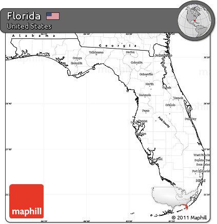 Free Printable Map Of Florida.Free Blank Simple Map Of Florida