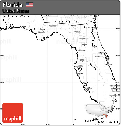 Free Blank Simple Map Of Florida