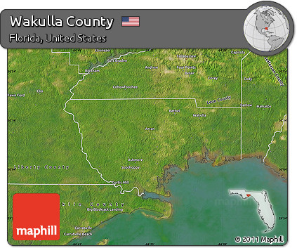 Map Of Wakulla County Florida.Free Satellite Map Of Wakulla County