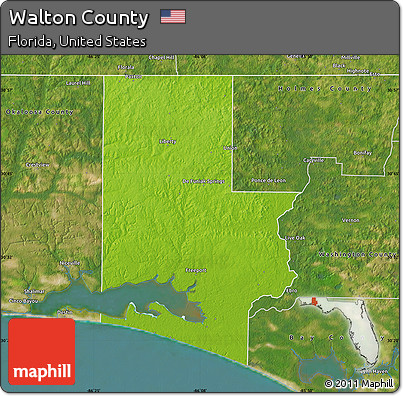 Free Physical Map of Walton County, satellite outside on satellite view of orlando, satellite map view house, satellite maps of usa,