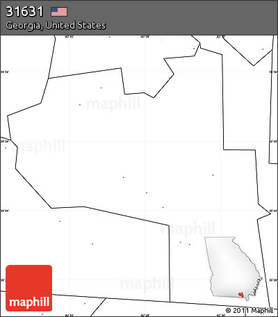 Free Blank Simple Map Of ZIP Code No Labels - Us map no labels