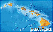 Political 3D Map of Hawaii