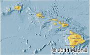 Savanna Style 3D Map of Hawaii