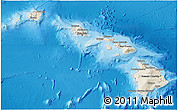 Shaded Relief 3D Map of Hawaii
