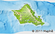 Physical 3D Map of Honolulu County