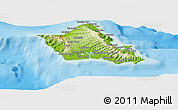 Physical Panoramic Map of Honolulu County