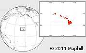 Blank Location Map of Hawaii