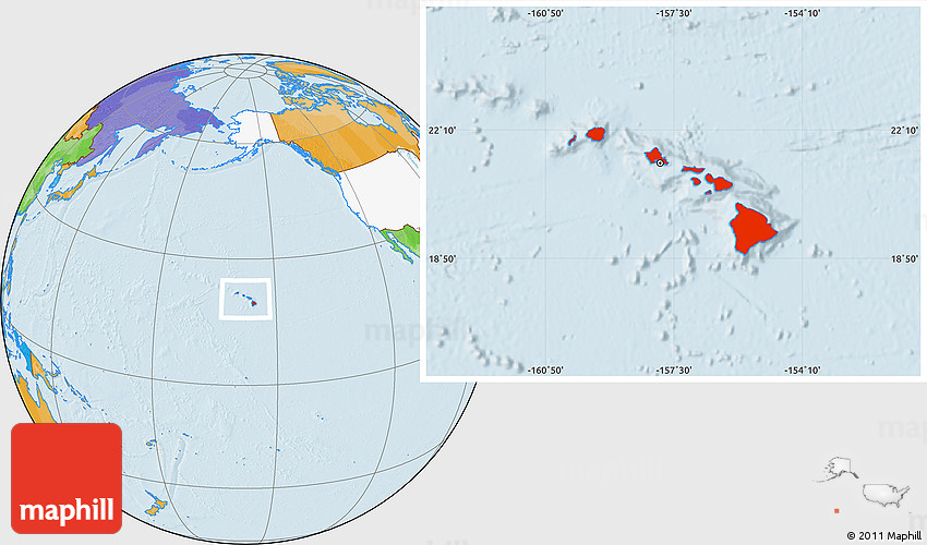 31 popular hawaii location world map bnhspine hawaii on world map gallery gumiabroncs Images
