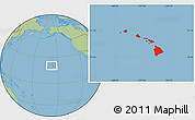 Savanna Style Location Map of Hawaii