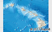 Shaded Relief Map of Hawaii, political outside