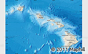 Shaded Relief Map of Hawaii, political shades outside