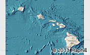 Shaded Relief Map of Hawaii, satellite outside