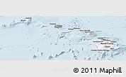 Gray Panoramic Map of Hawaii