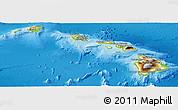 Physical Panoramic Map of Hawaii