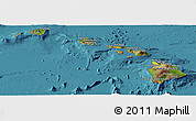 Satellite Panoramic Map of Hawaii