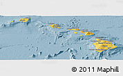 Savanna Style Panoramic Map of Hawaii